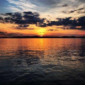 Lake Lanier Golden Sunset Image