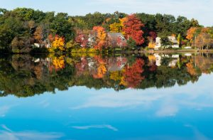 Autumn colors reflecting in New England